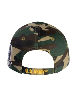 A03ARM01-US ARMY LOGO LICENSED EMBROIDERED MILITARY CAP CAMO