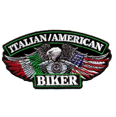 Italian American Biker Patch 13cm/7cm