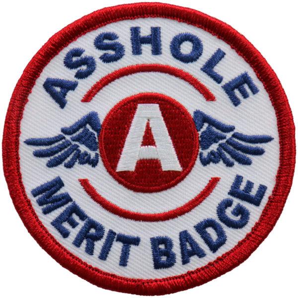 Asshole Merit Badge Patch 8cm/8cm