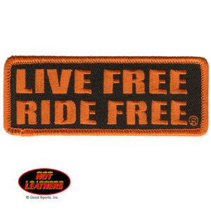 Live Free Ride Free Patch 10cm/5cm