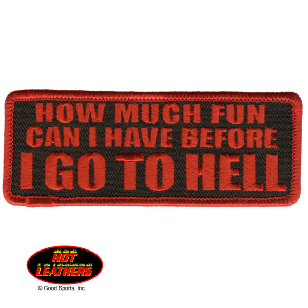 How much fun can I have Patch 10cm/5cm