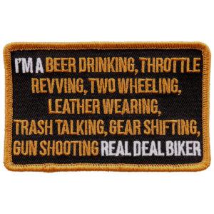 I an a real Biker Patch 10cm/7cm