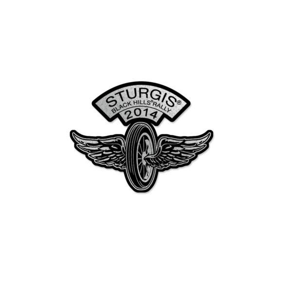 Motorcycle Rally Flying Wheel Pin