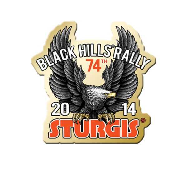 Sturgis Motorcycle Rally Upwing Eagle Pin