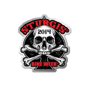 Sturgis Motorcycle Rally Human Skull Pin