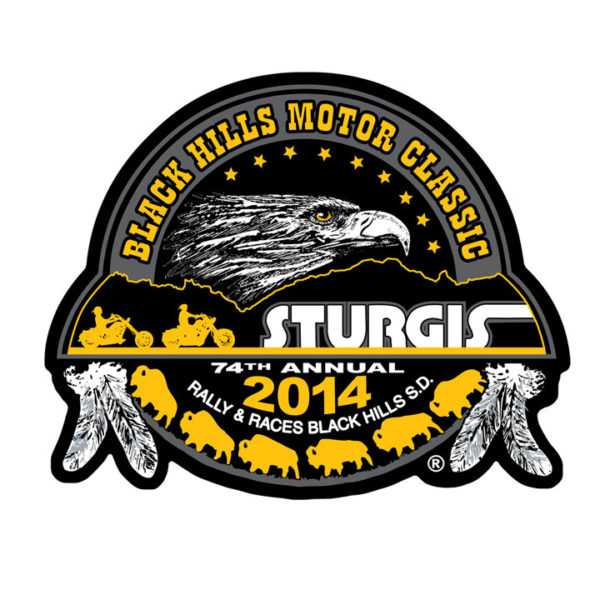 Motorcycle Rally Gold Composite Patch 10cm/10cm