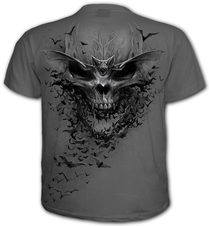 BAT SKULL - T-Shirt Charcoal